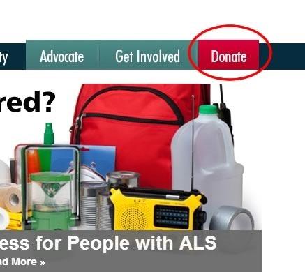 como donar a la asociacion ALS ELA por el IceBucketChallenge - boton