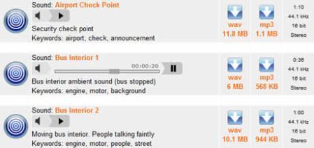 Efectos de sonido descargalos en SoundJay