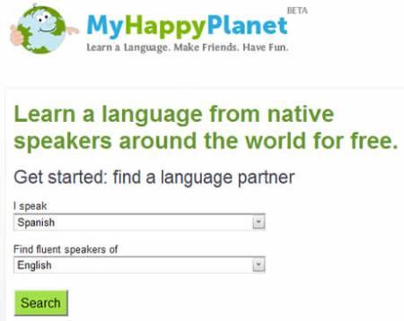 Aprender ingles y otros idiomas en My Happy Planet