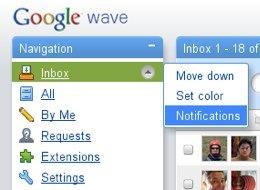 Google Wave recibe notificaciones por email