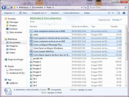 Como comprimir varios archivos en un archivo RAR
