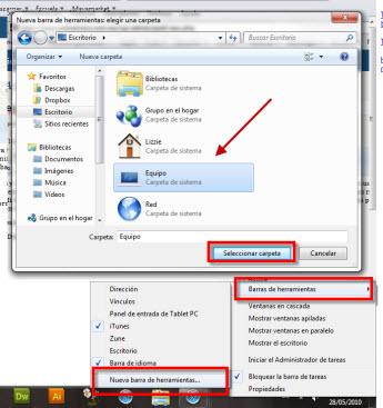 """Agrega """"Mi PC"""" a tu barra de tareas en Vista/Windows 7"""