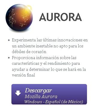 firefox aurora Prueba Firefox Aurora
