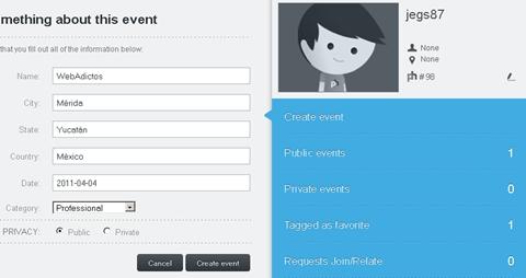 pikhub creando evento Pikhub, comparte tus fotos