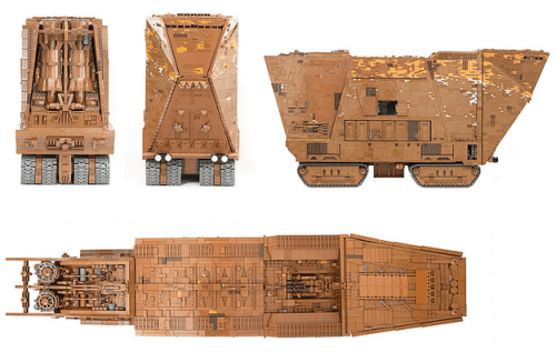 Captura de pantalla 2011 06 04 a las 13.50.53 El Sandrcrawler de Star Wars reproducido con 10mil piezas de Lego