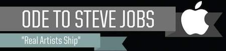 oda a steve jobs1 Los mejores momentos de Steve Jobs [Infografía]