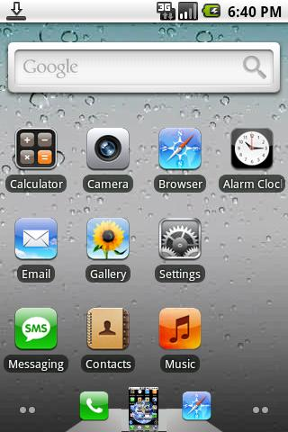 Tema iPhone 4 para tu Android
