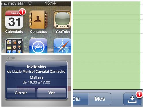 invitaciones calendario Novedades en las Apps de iOS 5 [Safari, Música, Calendario y Game Center]