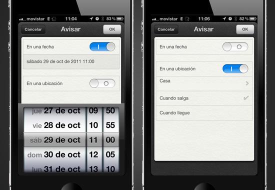 reminders usabilidad 2 Que nada se te olvide con Recordatorios para iOS 5 [Reseña]