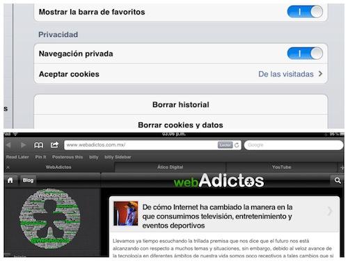 safari ios 5 ipad Novedades en las Apps de iOS 5 [Safari, Música, Calendario y Game Center]
