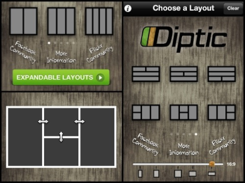 diptic expandable layouts Diptic para iPhone y iPad, una increíble aplicación para crear imágenes fantásticas [Reseña]