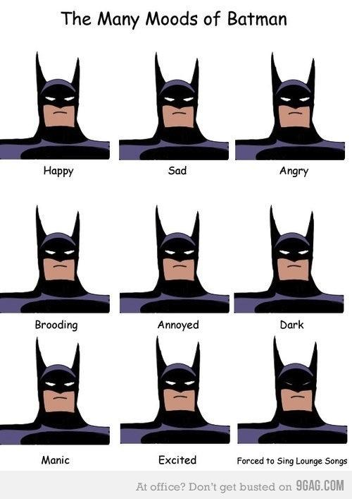 estados animo batman Los estados de ánimo de Batman [Imagen]