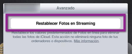 restablecer photostream Como Restablecer Photostream y eliminar las fotografías de iCloud y tus dispositivos