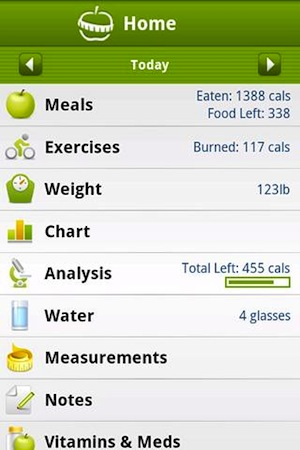 calorie counter Comienza el 2012 en forma con estas aplicaciones para iOS y Android