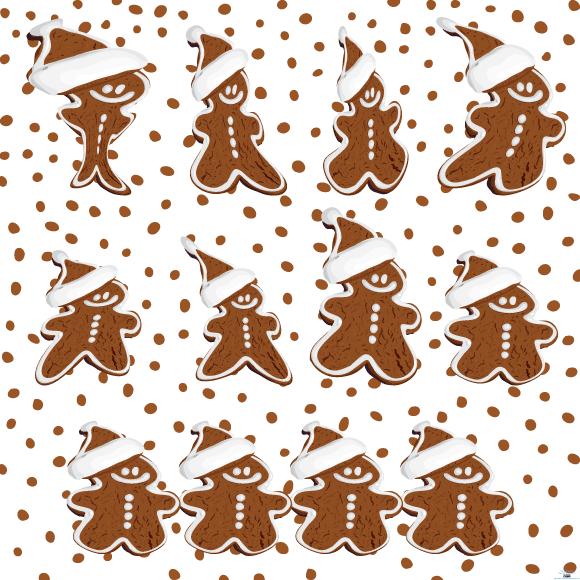 gingerbread cookies vector Colección de vectores de Navidad para tus diseños