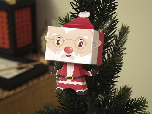 santa claus paper toy Colección con los mejores Paper Toys para Navidad