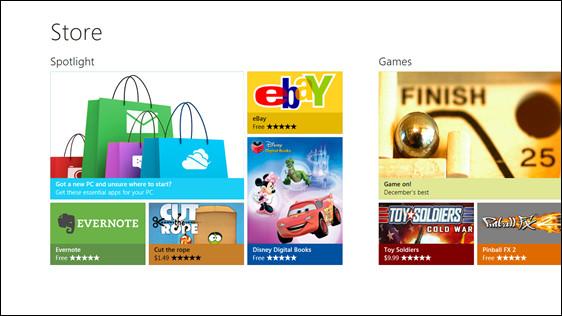 windows 8 store La Windows Store para Windows 8, un vistazo de lo que nos espera