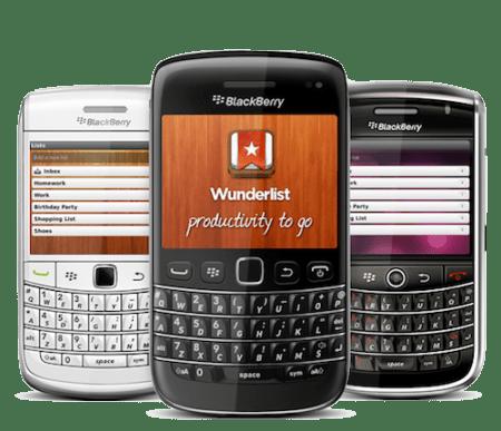 Wunderlist, una de las mejores apps de tareas ahora esta disponible para BlackBerry