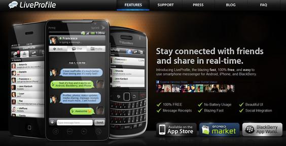 liveprofile LiveProfile la sensación del momento en la mensajería instantánea móvil