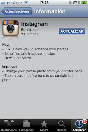 IMG 1551 Instagram se actualiza a su versión 2.1, puliendo su interfaz