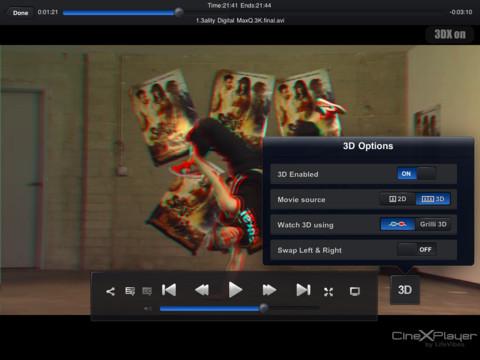 cinexplayer 3d CineXPlayer: Reproduce XviD en tu iPad sin conversiones [Reseña]