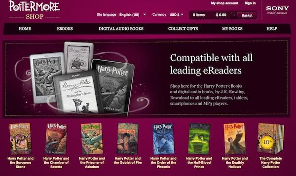 ebooks harry potter pottermore Los libros digitales oficiales de Harry Potter arriban en Pottermore