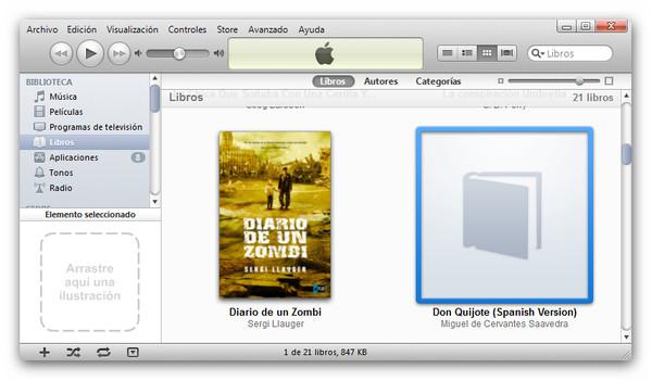 paso1 Cómo cambiar la portada de nuestros libros en iBooks