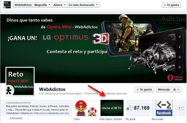 reto opera mini Hoy es último día para participar por un LG Optimus 3D en el reto Opera Mini WebAdictos