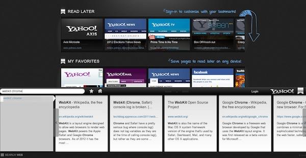 Axis home Axis, el nuevo navegador web de Yahoo!
