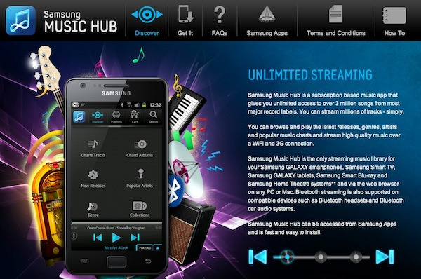 Samsung music hub Music Hub, el servicio musical en streaming de Samsung