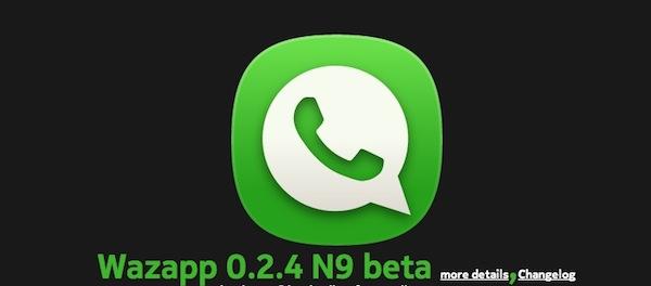 Wazapp meego Wazapp por fin disponible para Nokia N9, el WhatsApp de los smartphones con Meego
