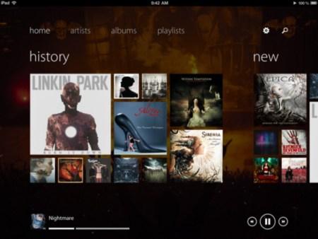 Track 8, reproductor de música para iPad con interfaz Metro
