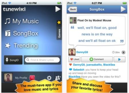 TuneWiki reproduce tus canciones en el iPhone con letras tipo karaoke