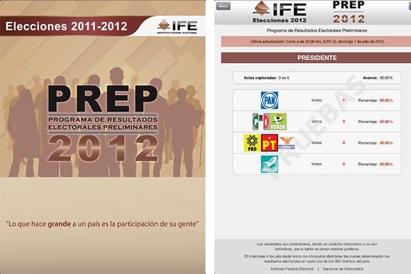 Elecciones 2012 ife ios Aplicación para consultar los resultados preliminares de las elecciones 2012 es presentada por el IFE