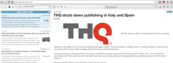 Zentomi Zentomi, un nuevo lector de Feeds RSS minimalista basado en Google Reader