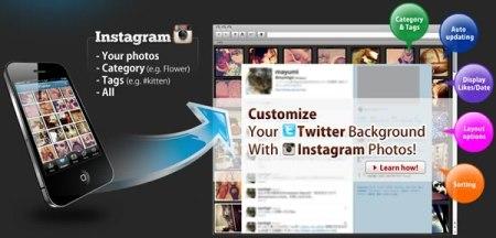 Cambia el fondo de twitter con fotos de Instagram con InstaBG