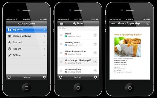 Google Drive para iOS disponible para descargar