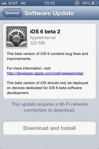 Segunda beta de iOS 6 es publicada por Apple