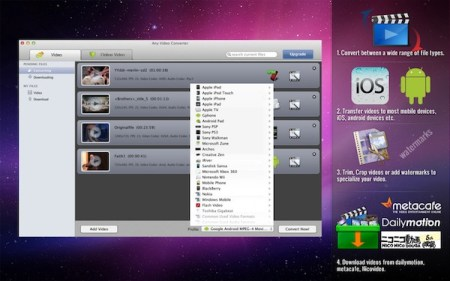 Convertir videos en Mac con Any Video Converter Lite