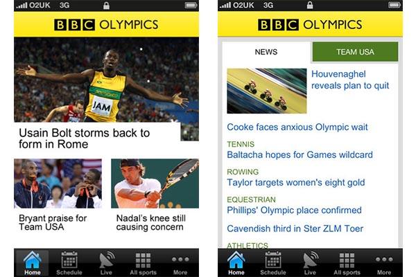 BBC Olympics android Ver los Juegos Olímpicos 2012 en vivo desde tu móvil con BBC Olympics