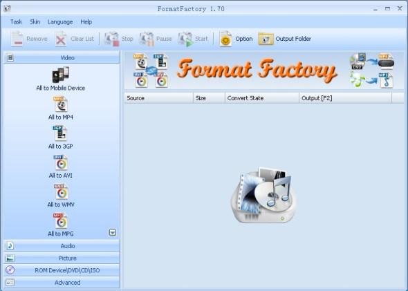 FormatFactory 590x421 El convertidor de formatos Format Factory se actualiza a su versión 2.95