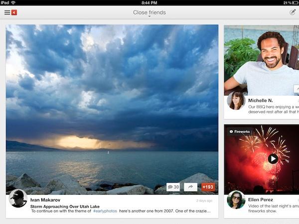 Google plus ipad Google+ para iPad disponible para descargar