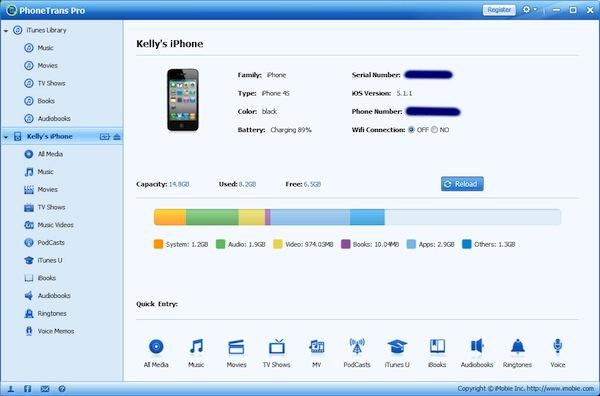 Alternativa a iTunes en Windows, PhoneTrans Pro