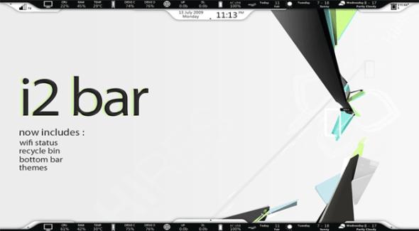 i2 bar 590x325 Personaliza tu escritorio de Windows con estos skins de Rainmeter
