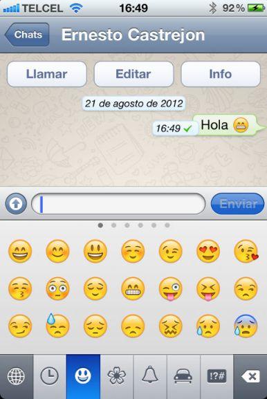 emoticon whatsapp Cómo habilitar los iconos en WhatsApp