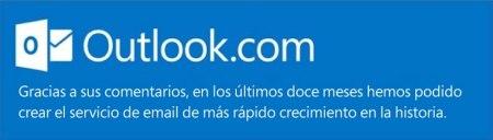 Outlook.com ha realizado más de 600 cambios a un año de su lanzamiento