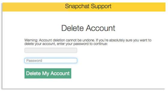Snapchat borrar cuenta Cómo borrar tu cuenta de Snapchat