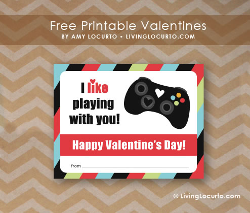 Gamer Valentine Tarjetas de San Valentín para Gamers que puedes imprimir