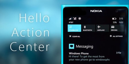Windows Phone 8.1 integrará (por fin) el centro de notificaciones