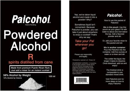 Palcohol, el alcohol hecho polvo para que prepares tus bebidas embriagantes